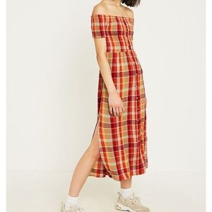 Urban Outfitters Monica Res Check Midi Dress